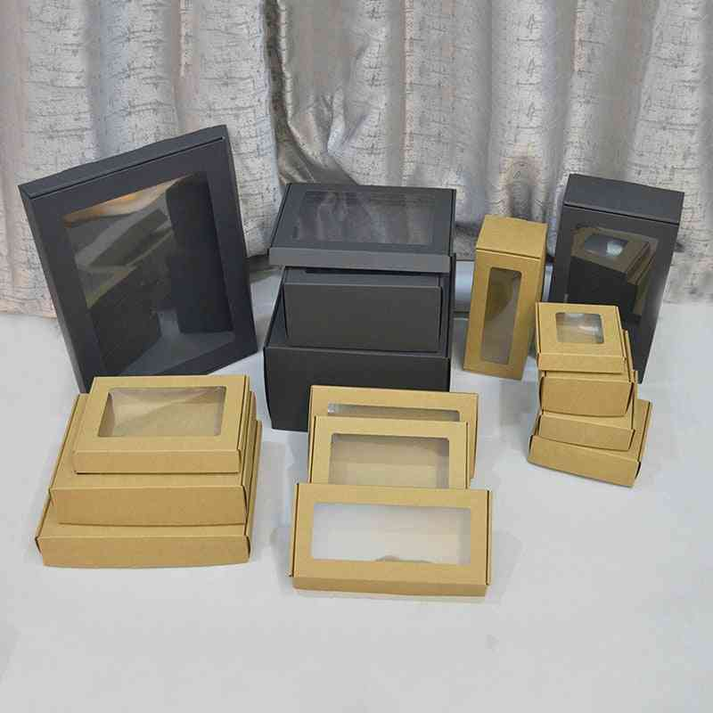 Transparent Window Large Paper Cardboard Box