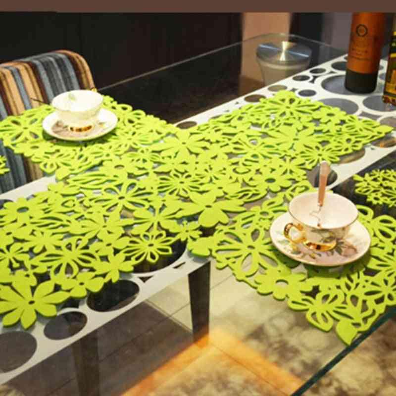 Hollow Felt Tablecloth Runner Placemats