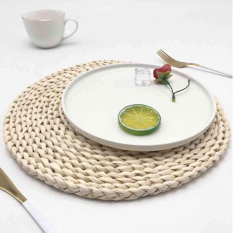 Japanese Style Round Rattan Placemats