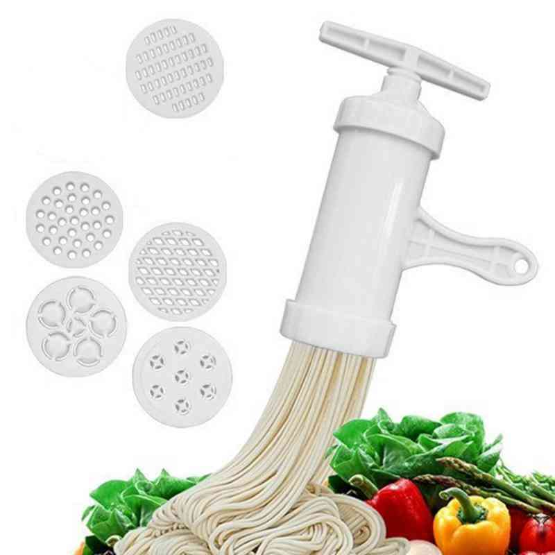 Household Manual Five Different Template Plastic Pasta Machine