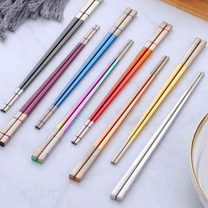 Non-slip Sushi Metal Chop Sticks