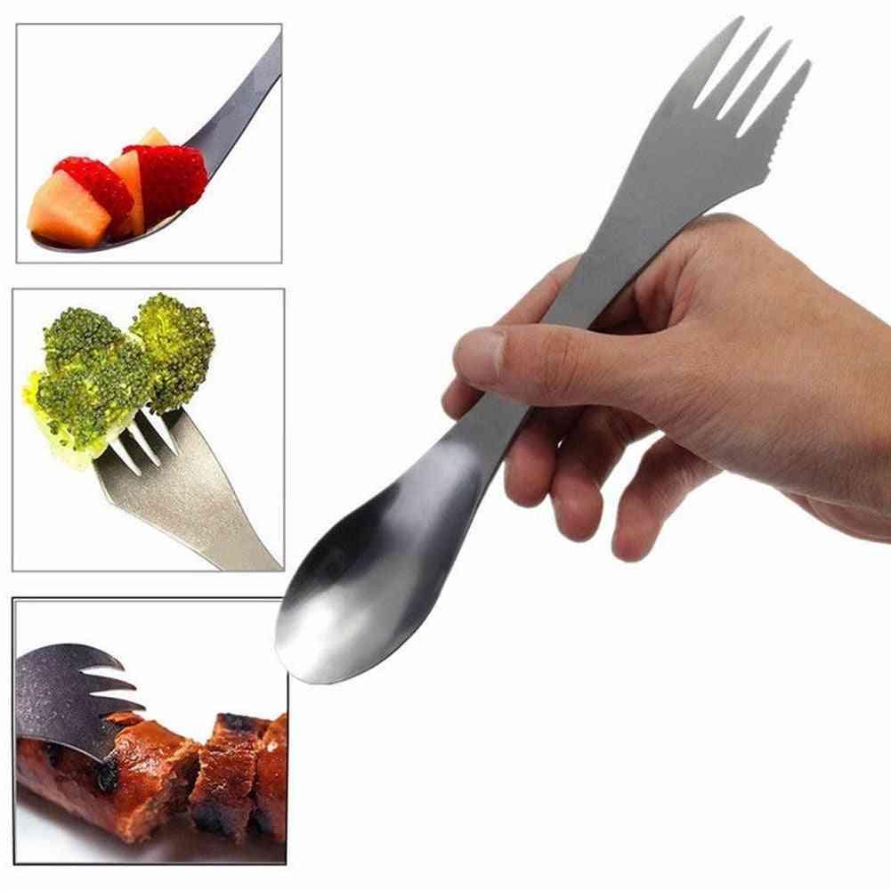 Stainless Steel Cutlery Tableware Spork Fork Spoon