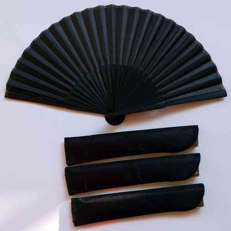 Chinese Style Black Vintage Hand Fan