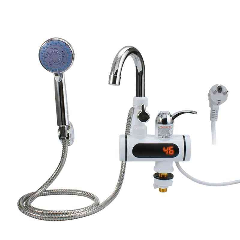 Water Heater Tankless Electric Cold Heating Tap Shower Temperature Display Instant
