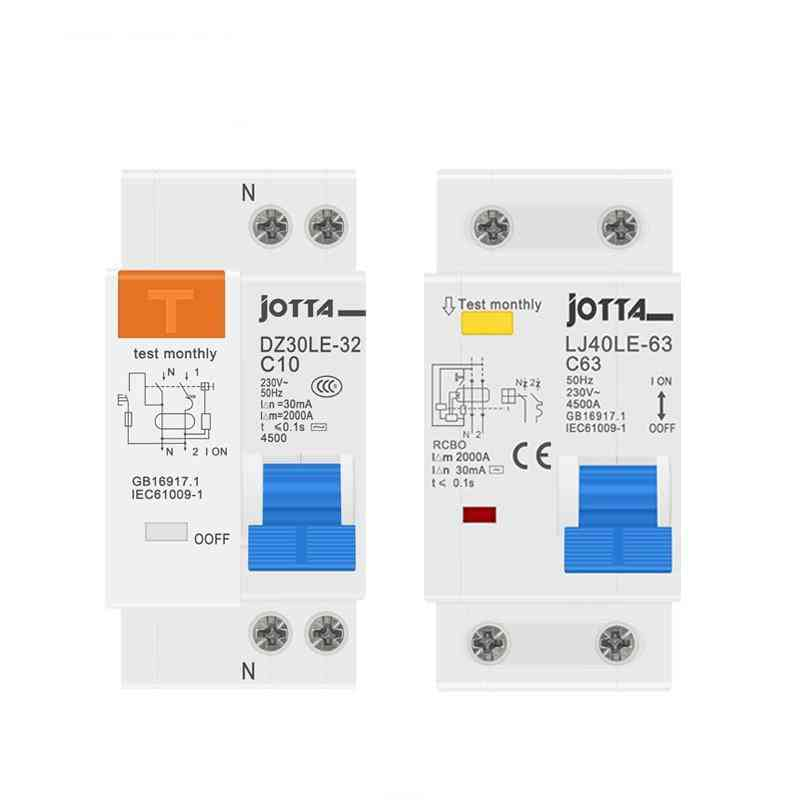 Residual Current Circuit Breaker With Over Current And Leakage Protection Rcbo