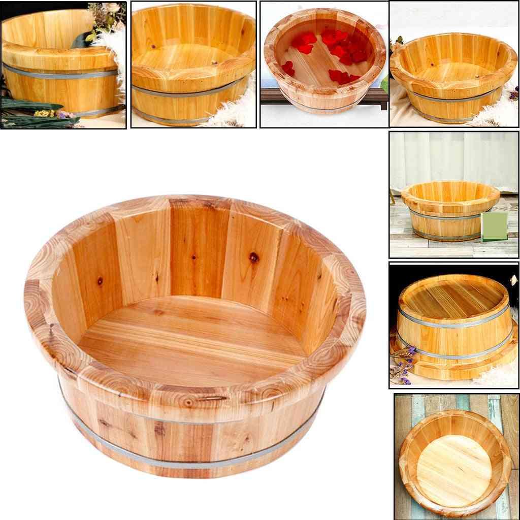 Cedar Wooden Foot Basin Tub Bucket