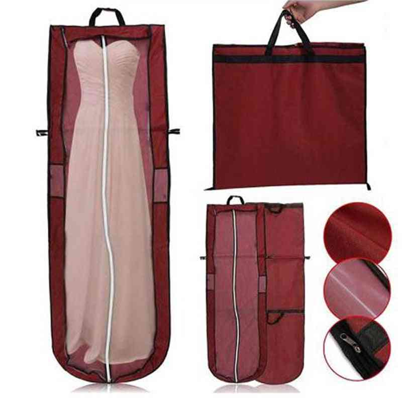 Wedding Dress Dust Cover, Zipper Gown Dustproof Storage Bag