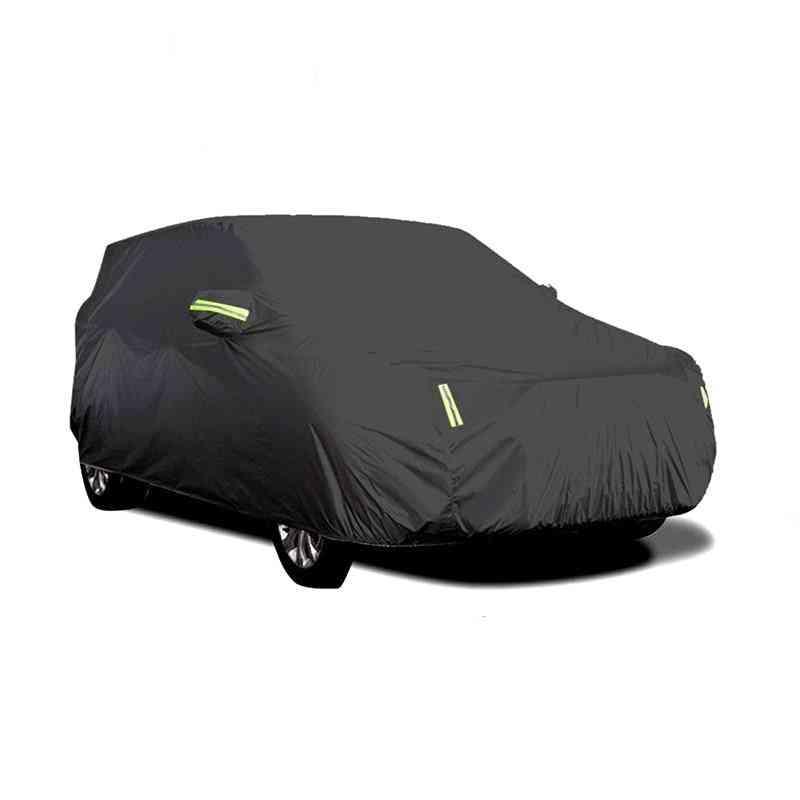 Full Sedan Car Covers With Reflective Strip Dustproof & Waterproofs