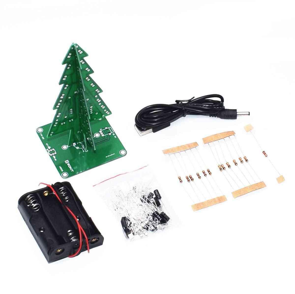 3d Christmas Tree Led Diy Kit