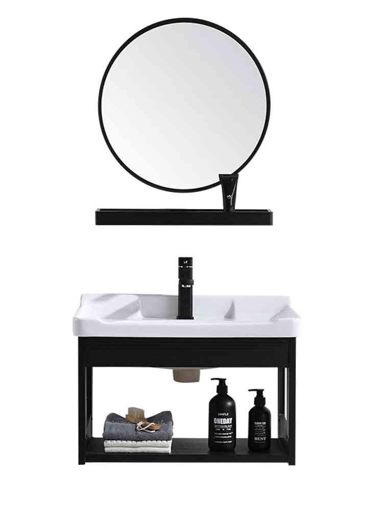 Space Aluminum Bathroom Basin Cabinet, Mirror Vanity