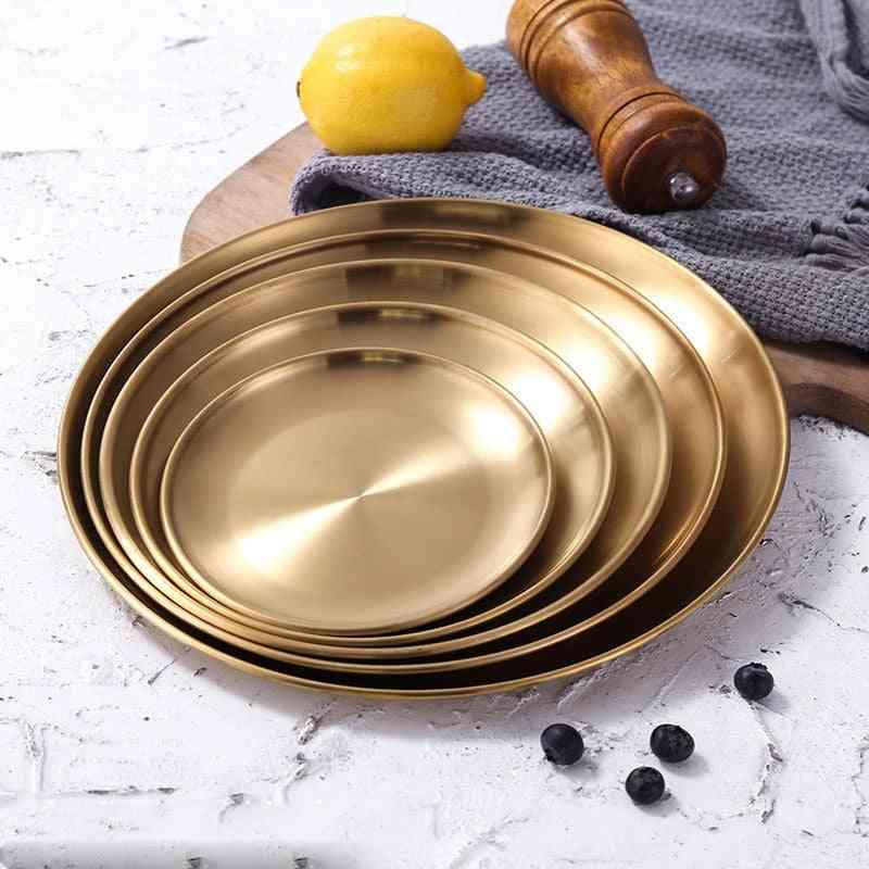 Dinner Plates Gold