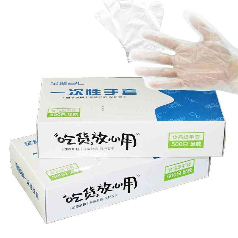 Disposable Eco-friendly Food Cleaning Plastic Disposable Gloves