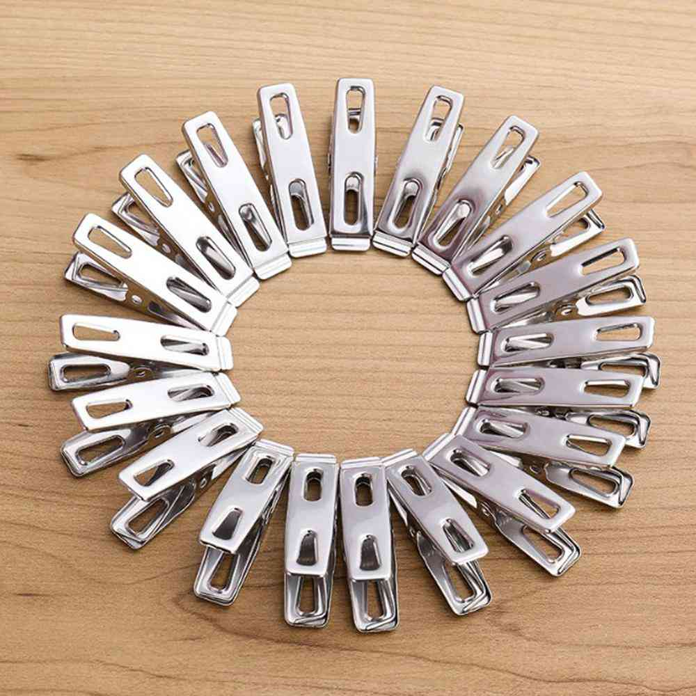 Antiskid Stainless Steel Drying Hanger Clothespins
