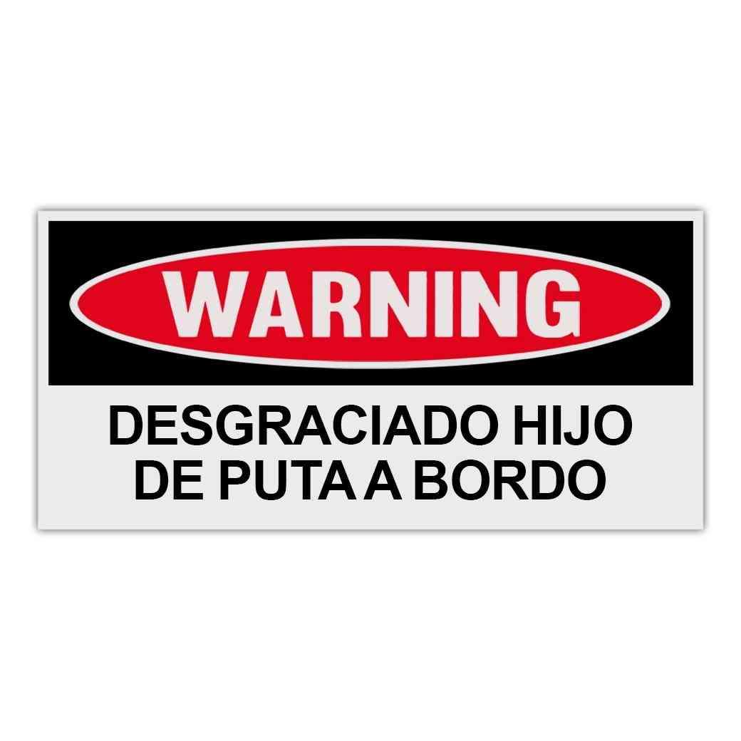 Sticker, Warning Sticker, Bad Ass Motherfucker On Board