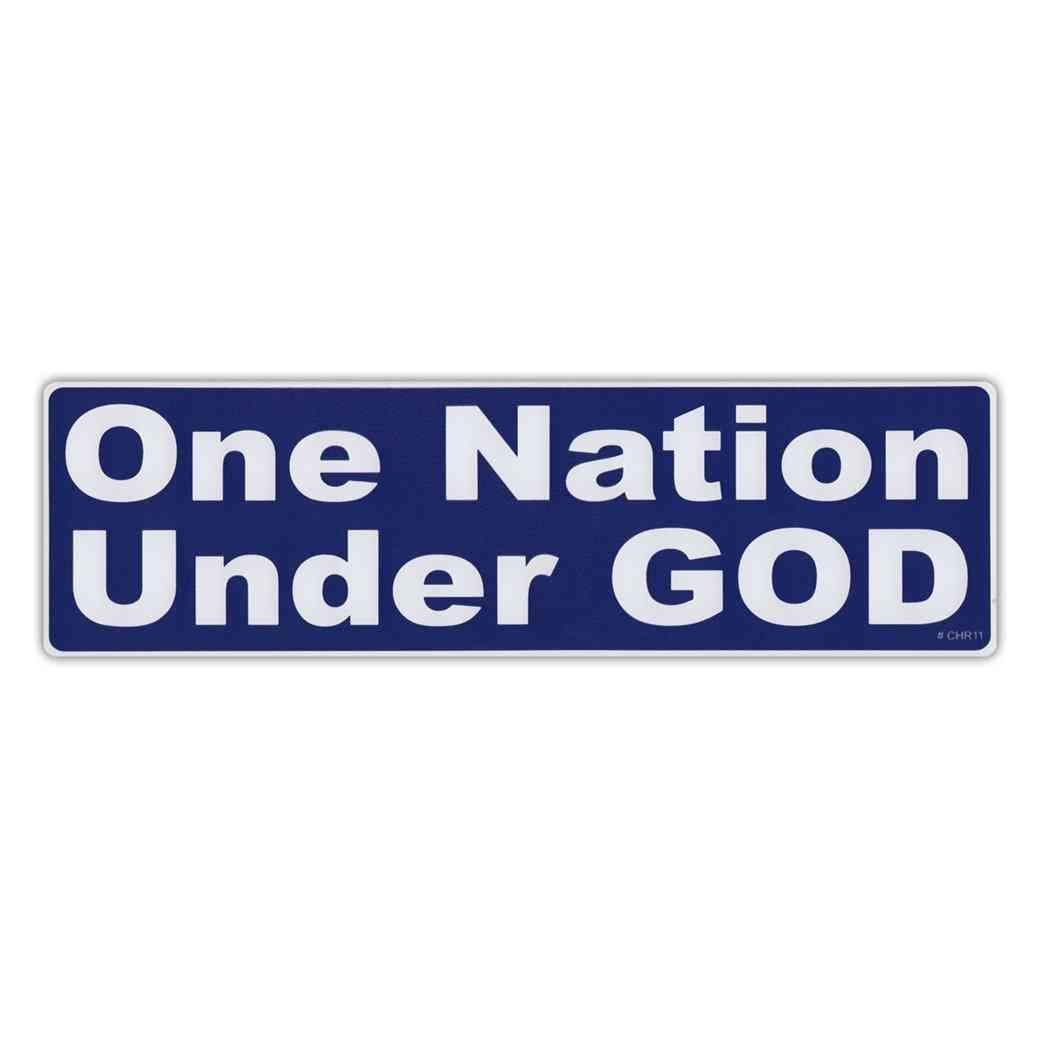 Sticker, Bumper Sticker, One Nation, Under God, 10