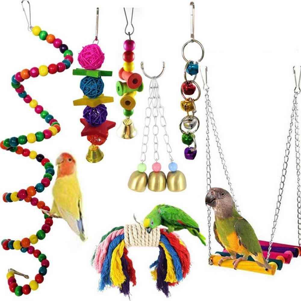 Parrot Birds Toy Bells