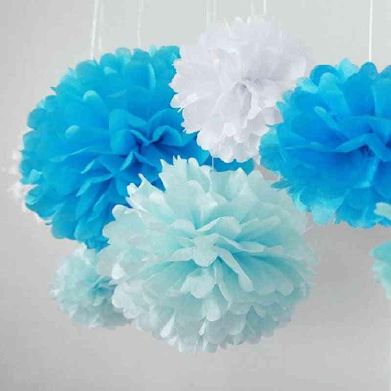 Tissue Paper Pompoms Wedding Decorative Paper Flowers ( Set 1)