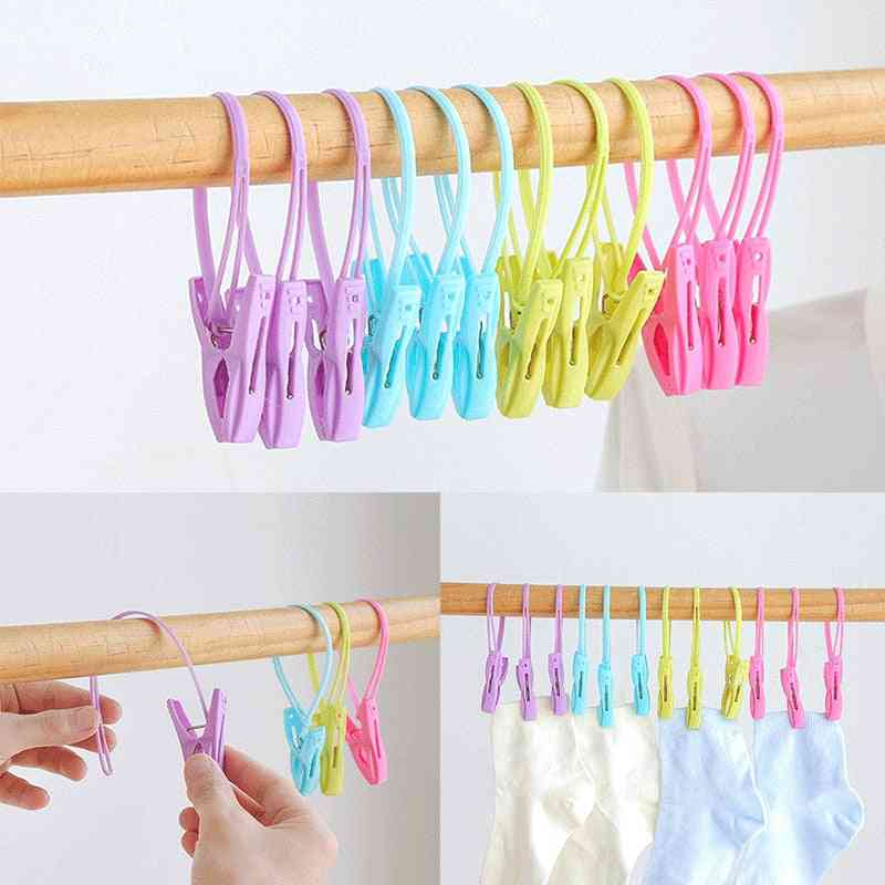 Multicolor Plastic Clothes Laundry Pegs, Wind Proof Multifunctional Clips