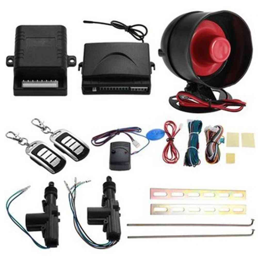 Car Door Remote Central Locking Kit + Anti-theft Alarm Tool Set