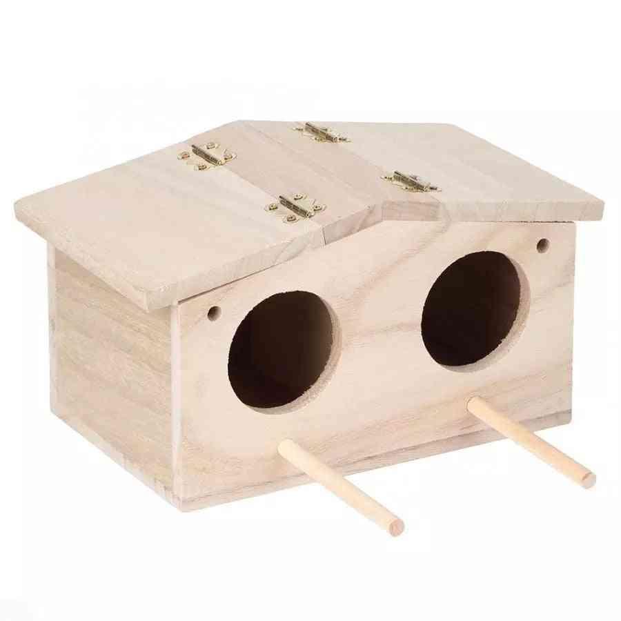 Wooden Pet Bird Nests House