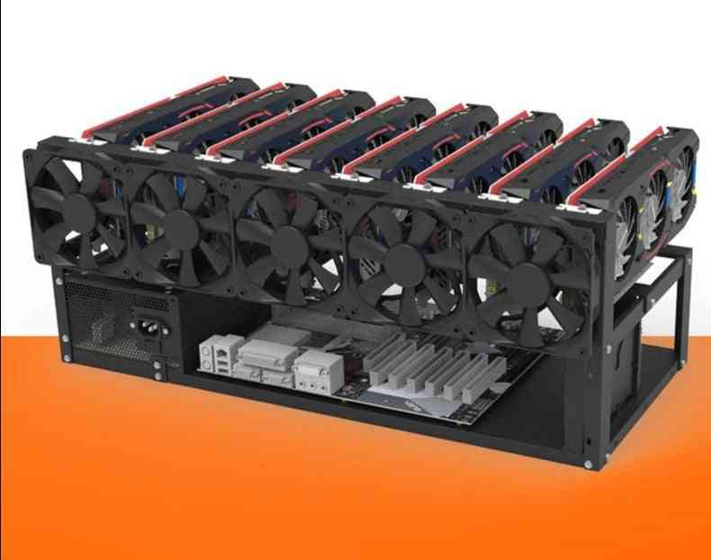 Air Frame, Mining Frame Rig Case Up To 12 Gpu For Crypto Coin Currency