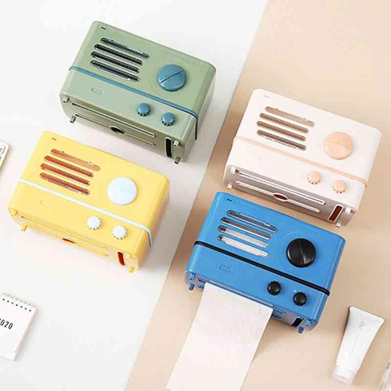 Living Room Creative Retro Style, Radio Type Tissue Box