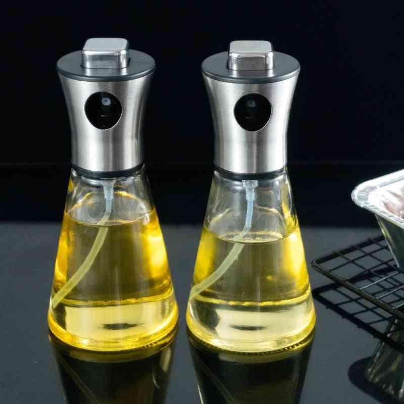 Empty Spray Bottle Stainless Steel Kitchen Olio Sprayer