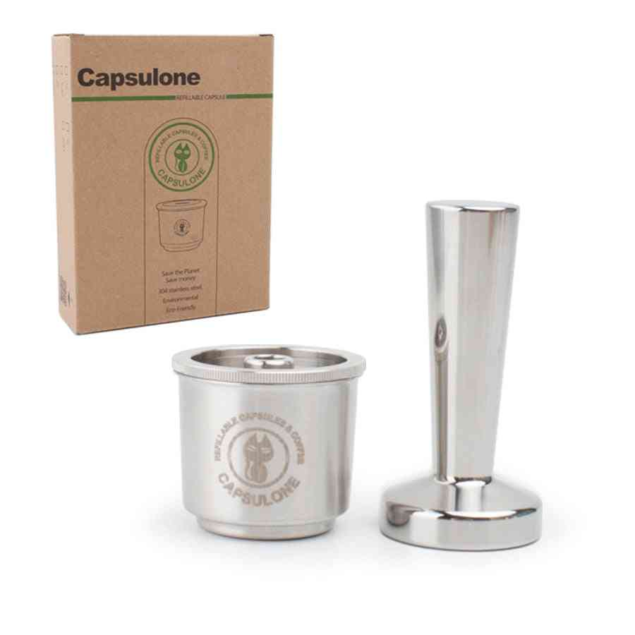 Capsulone Compatible For Illy Coffee  Maker Machine  Refillable Coffee Capsule Pods Baskets