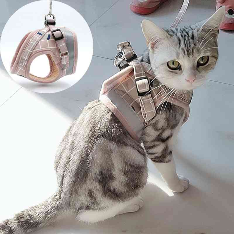Fashion Plaid Cat Harnesses For Cats