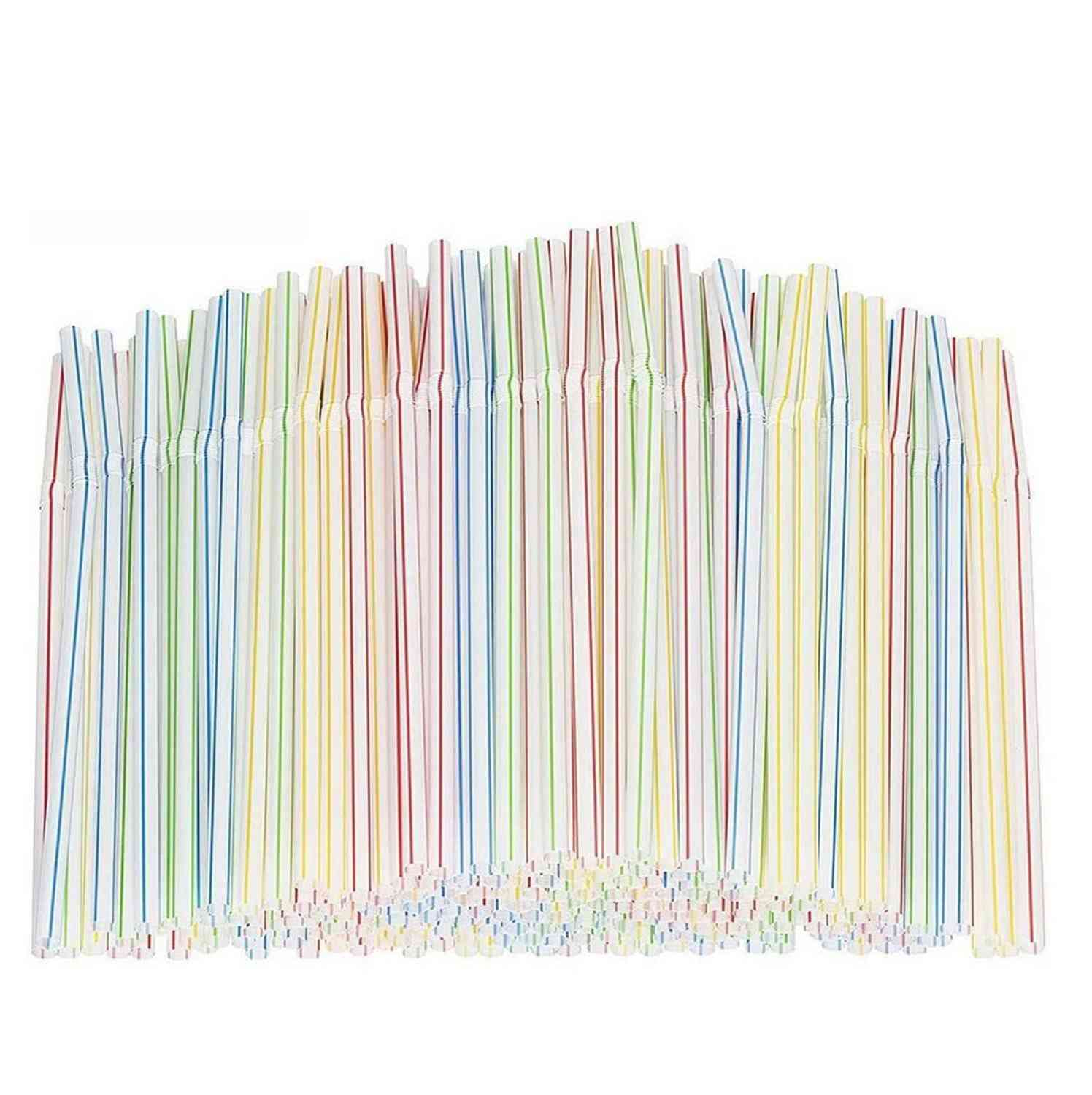 Plastic Drinking Straws 8 Inches Long Multi-colored Disposable Straws