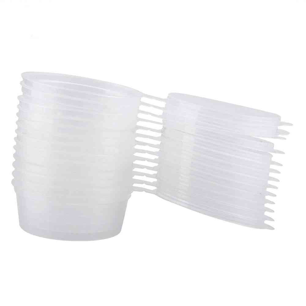 Disposable Plastic Clear Sauce Chutney Cups Boxes