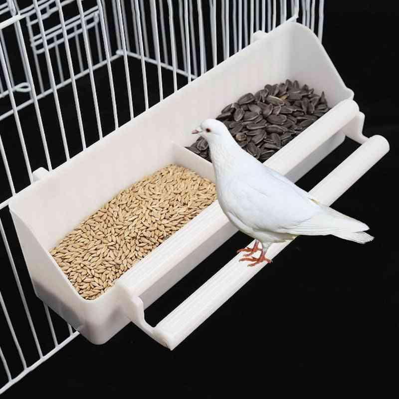 Parrot Birds Water Hanging Bowl Parakeet Feeder Box