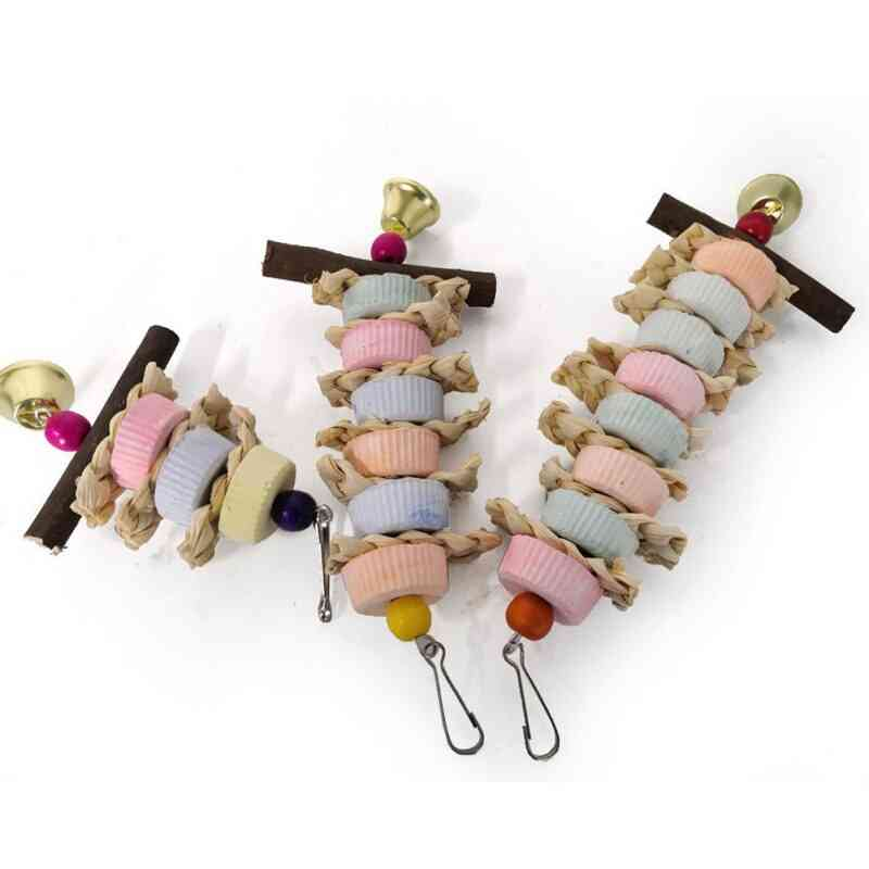 Birds Parrot Grinding Stone Chewing Toy, Mouth Molars Stone