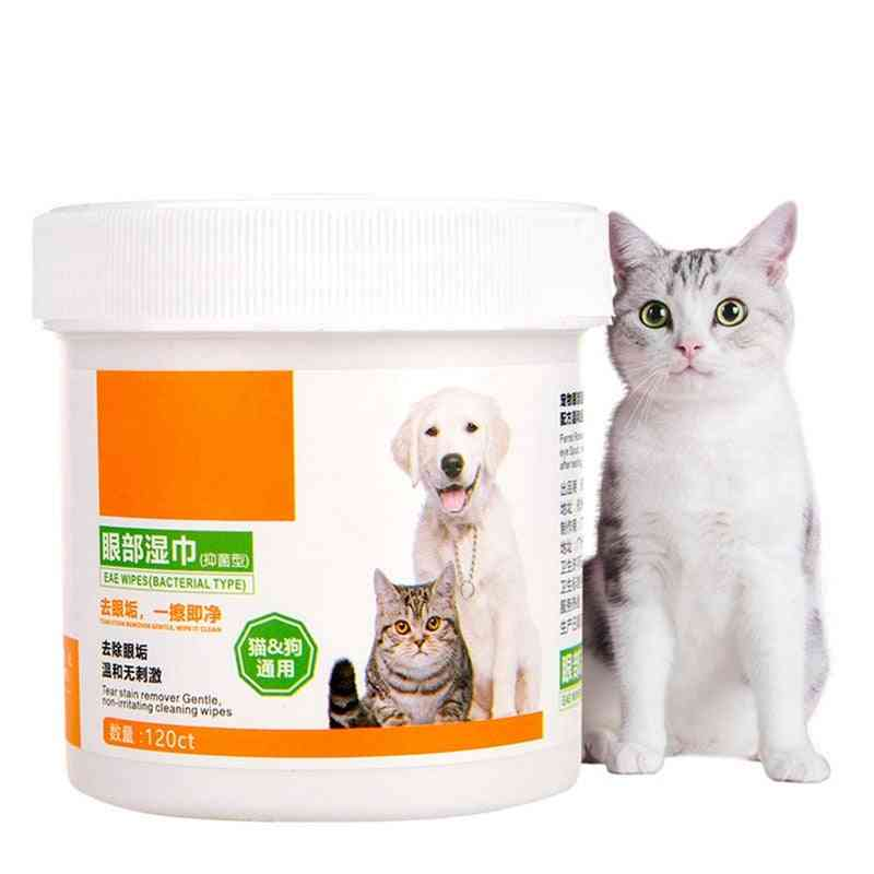 Bottle Aloe Extract Pet Round White Wipes For Dogs Cats