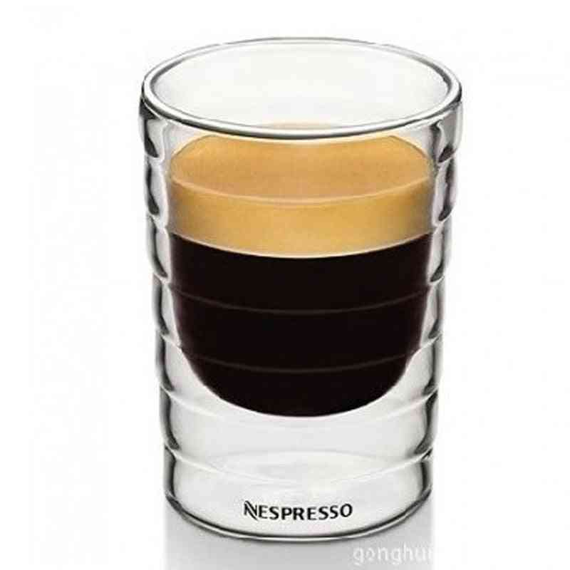 Caneca Hand Blown Double Wall Glass Cup