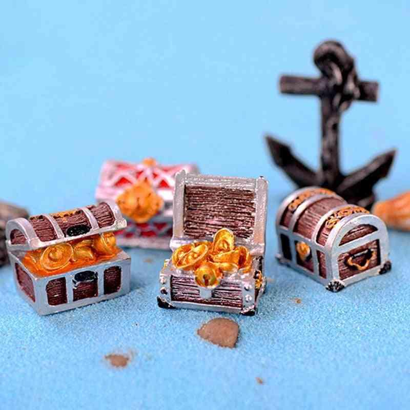 Treasure Chest Box Antique Creative Fish Tank