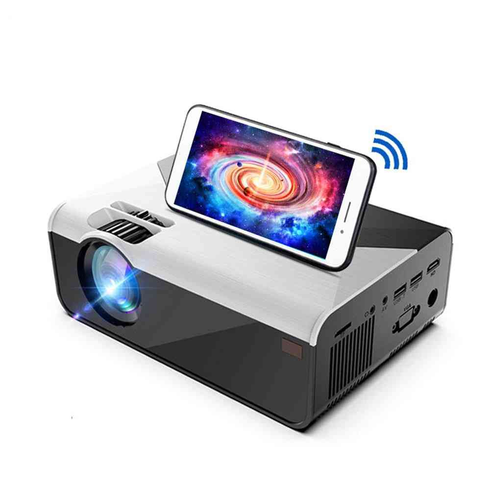 Mini Projector Lumens Wifi Bluetooth For Phone Projector Support