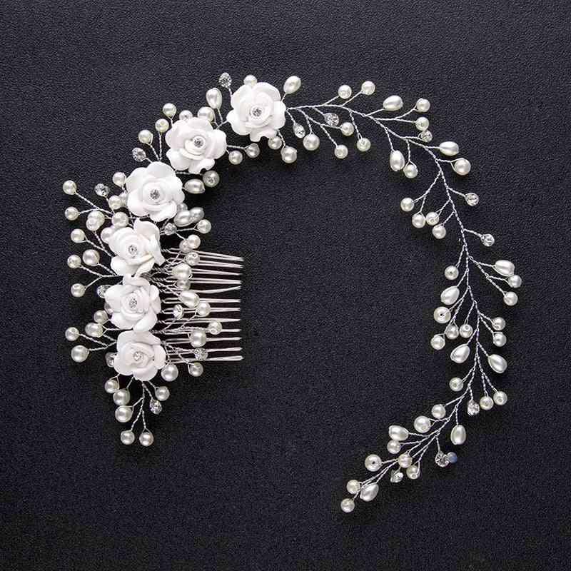 Wedding Crystal Bride Hair Flower Headband