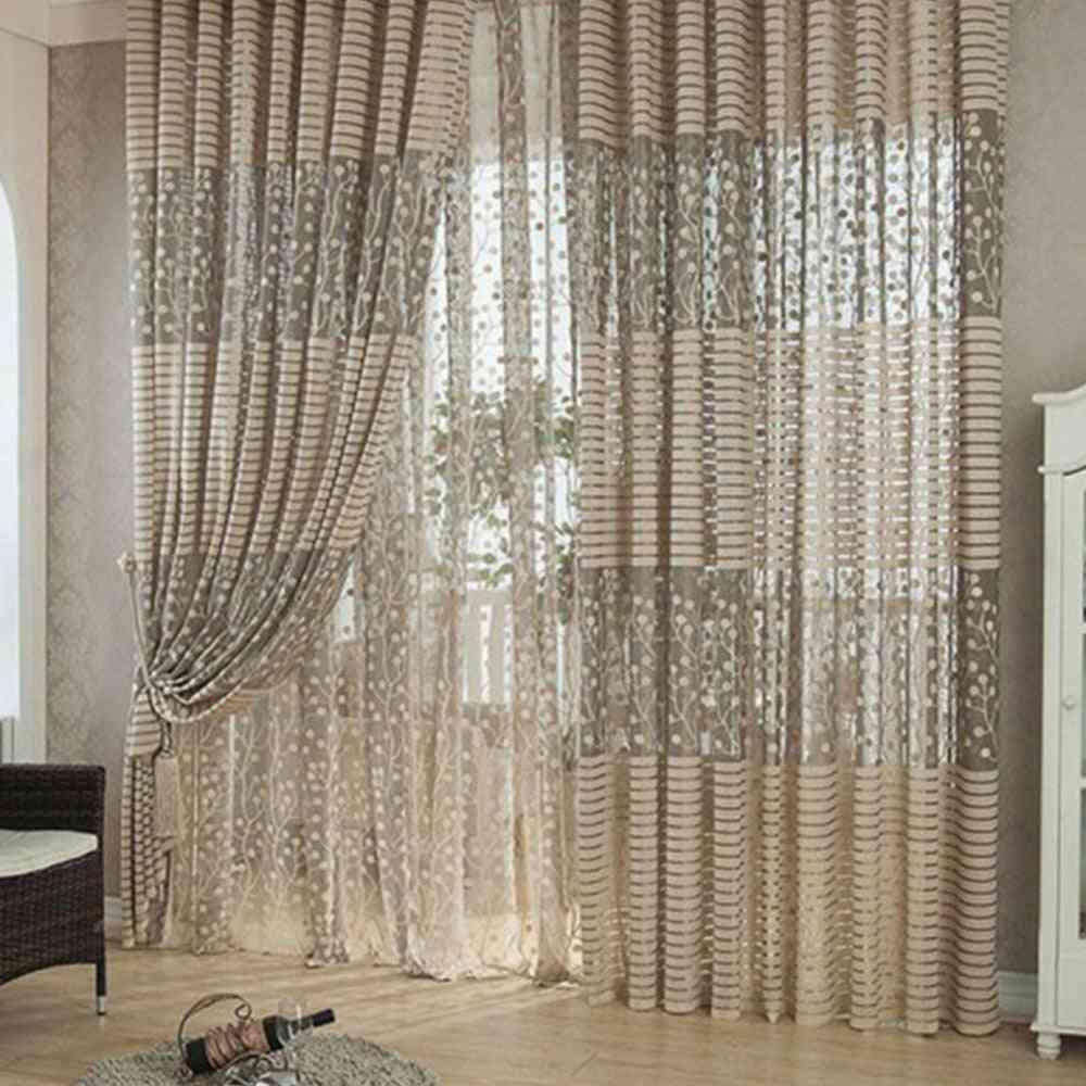 Screen For Divider Wall Long Natural Retro Curtain