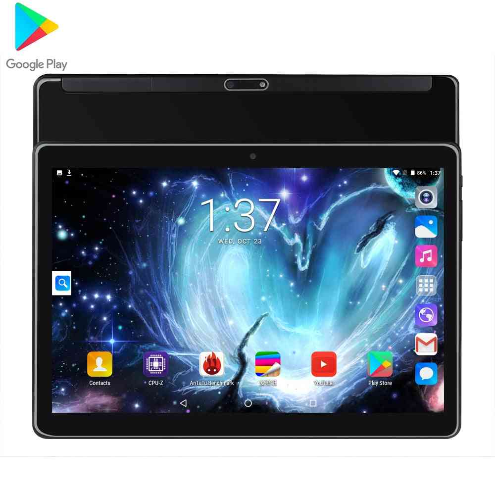 Android 10 Inch 4g Phone Call Deca Core 8gb+128 Gb Tablet 10.1 Pc With Touch Keyboard Dual Sim Card Wifi Bluetooth