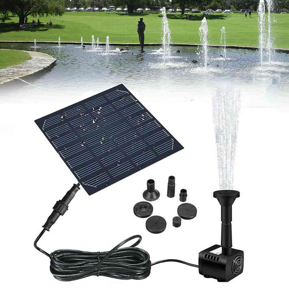 Solar Panel Powered Water Fountain Pool Pond