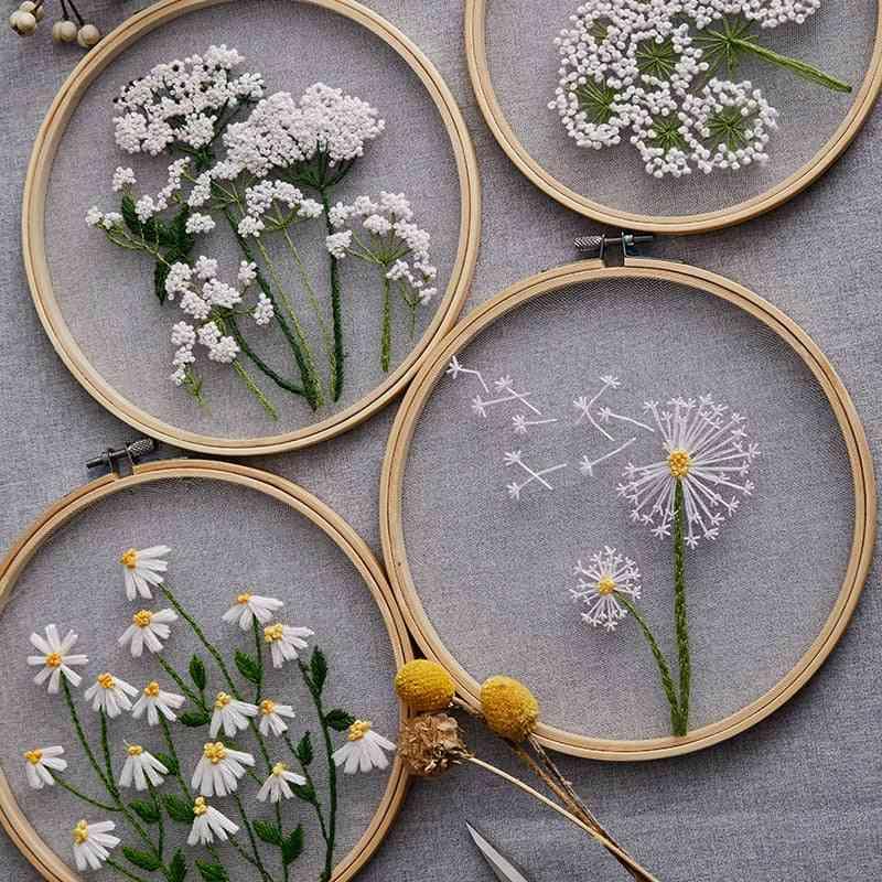 Flower Painting Cross Stitch Kit