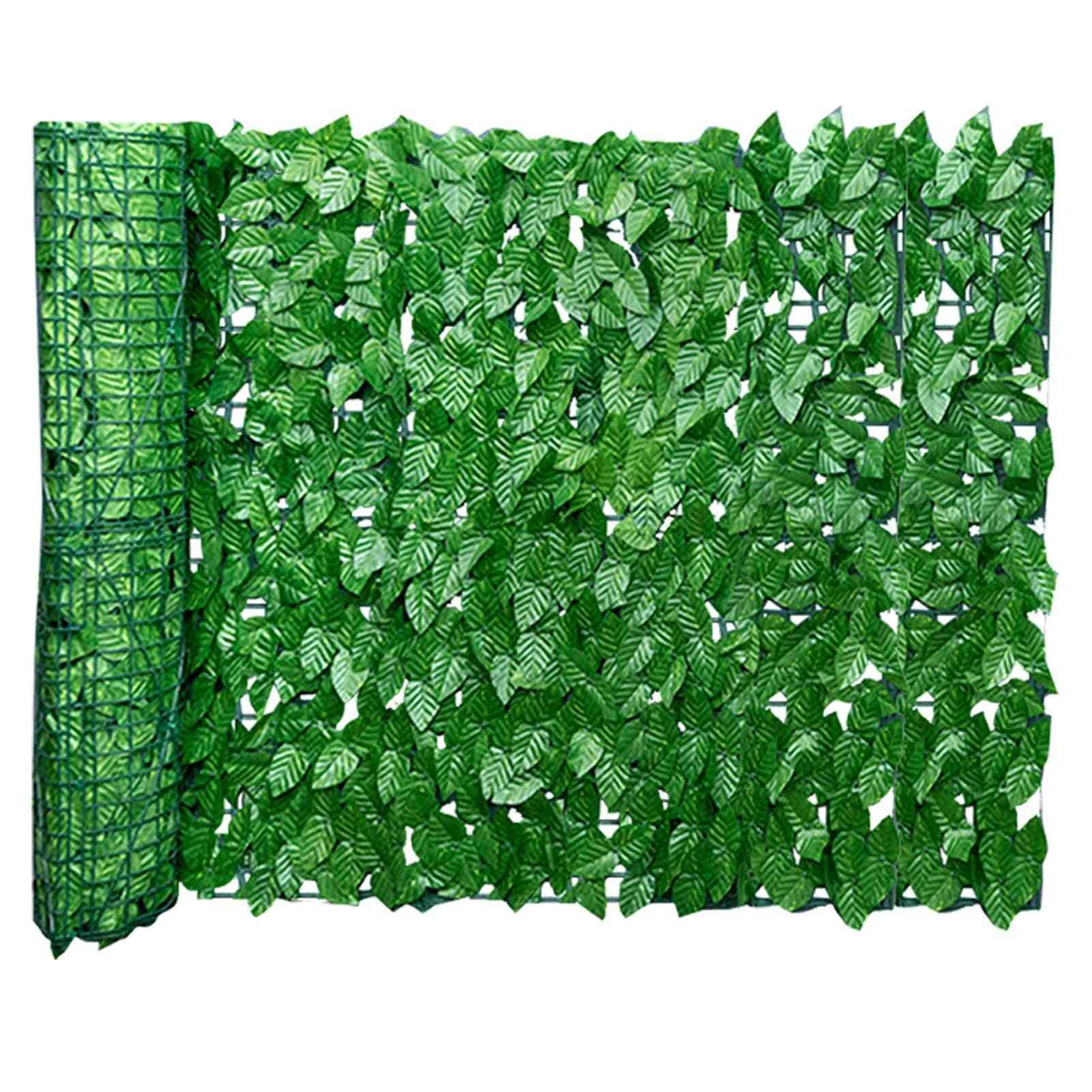 Artificial Leaf Garden Fence