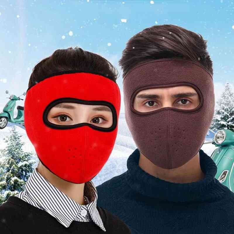 Winter Cycling, Full Face Mask Ski Mask Fishing Skiing Hat Headwear With Goggles