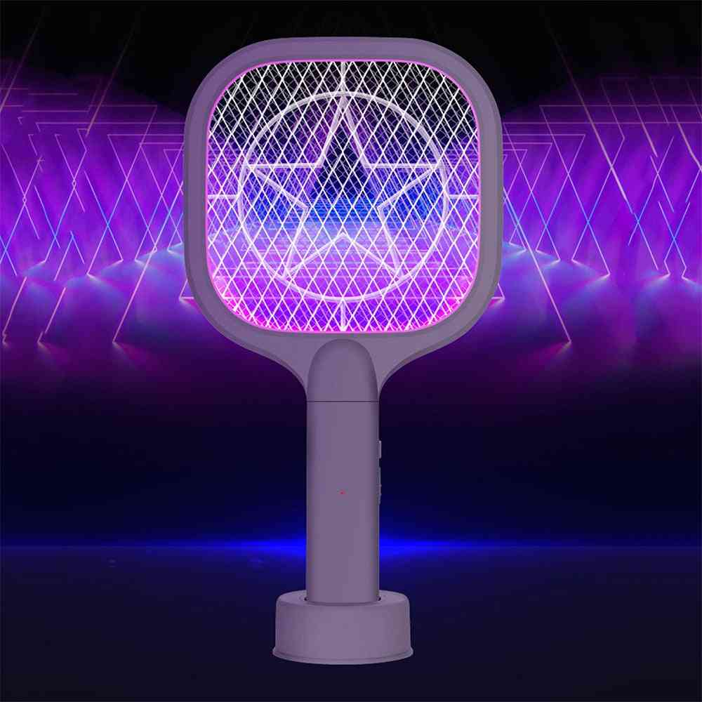 Rechargeable Mosquito Swatter Kill Fly Trap, Bug Zapper Killer