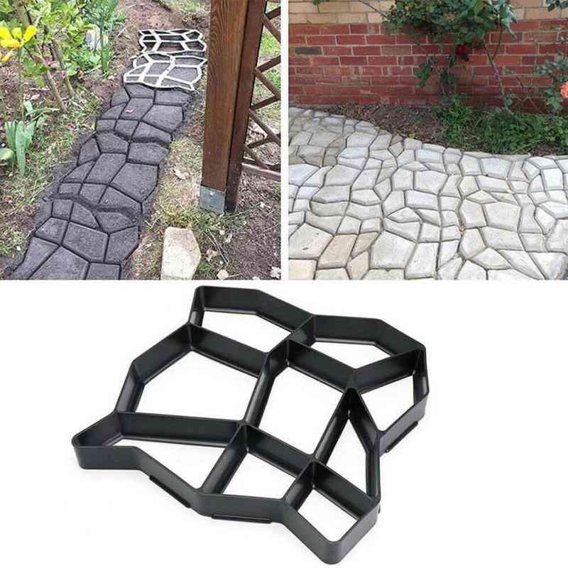 Diy Pavement Mold Garden Walk Pavement Concrete Mould Manually