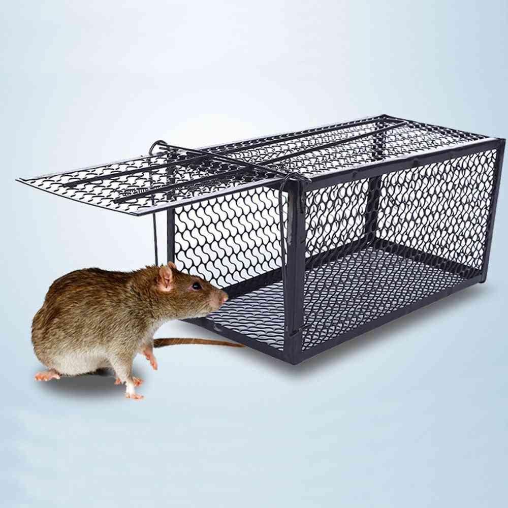 No Poison Metal Reusable Mouse Trap, Rat Cage Rodent Killer Mice Catcher