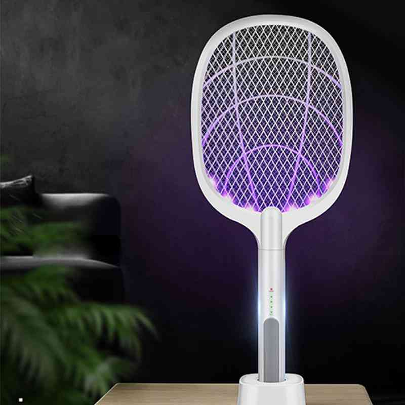 Rechargeable Mosquito Swatter Kill Fly Bug Zapper Killer Trap