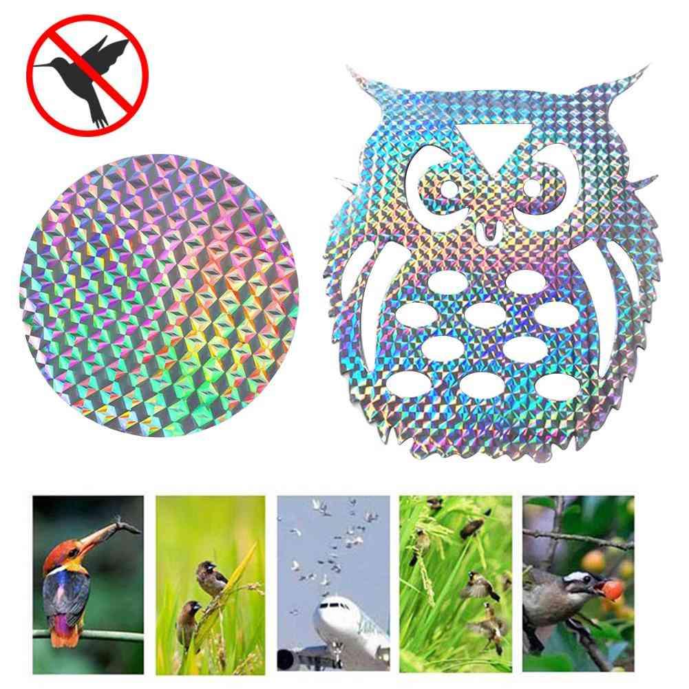 Garden Laser Hanging Fake Owl, Reflective Deterrent Scare Bird
