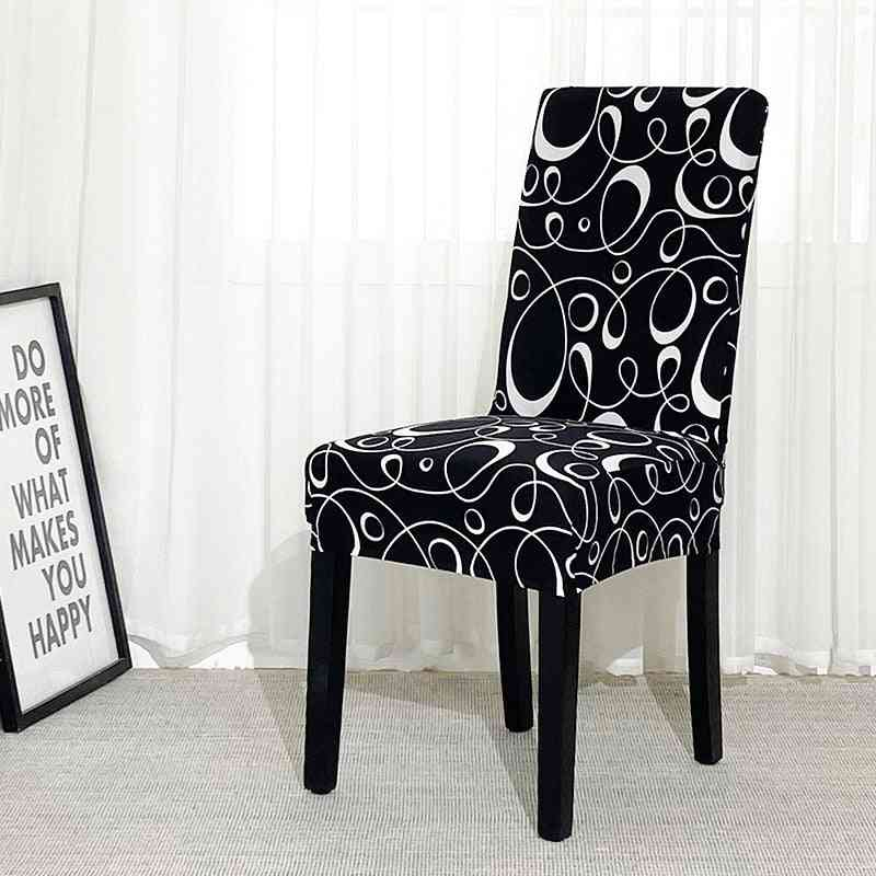 Flower Printed Geometric Kitchen Chair Covers